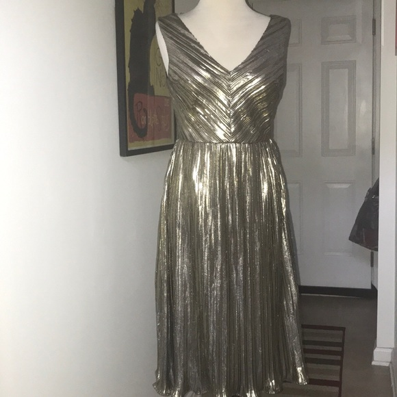 The Room By Ark Co Dresses The Room By Ark Co Gold Lame Dress